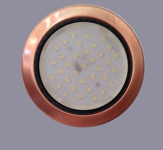 Лампа светодиодная(энергосберегающая)  LEDGx53 медь