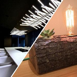 Дизайнерские светильники, Световые решения