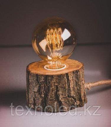 Дизайнерский светильник LIght round timber, фото 2