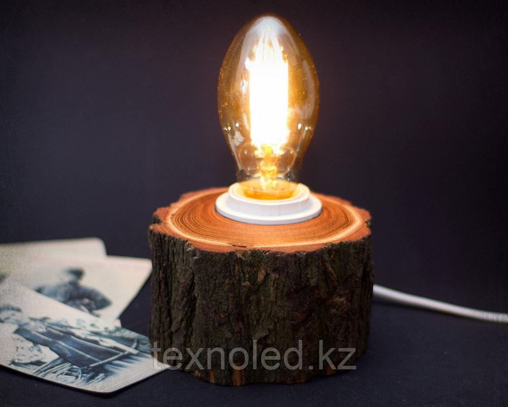 Дизайнерский светильник LIght round timber