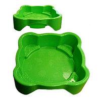 Песочница Marian Plast Квадратная с покрытием 378 зеленая, фото 1