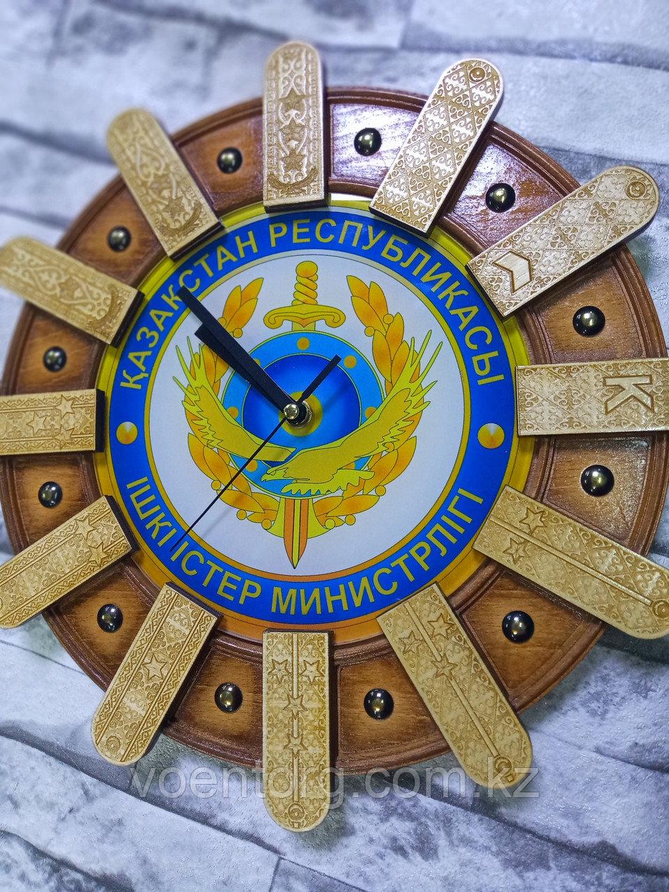 Часы настенные МВД деревянные