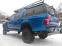 Багажник с боковыми бортами и спойлером для кунга/каркаса грузового алюминиевый - Toyota Hilux