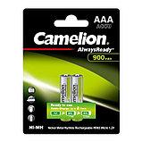 Аккумуляторная батарейка Camelion ААА NH-AAA900ARBP2, AlwaysReady Rechargeable, 1.2V, 900 mAh (2 шт.), фото 2
