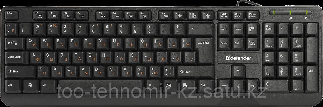 Клавиатура Defender OfficeMate HM-710 RU черный
