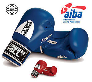 Перчатки боксерские Tiger AIBA GREEN HILL (Синий)