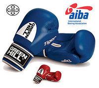 Перчатки боксерские Tiger AIBA GREEN HILL (Синий), фото 1