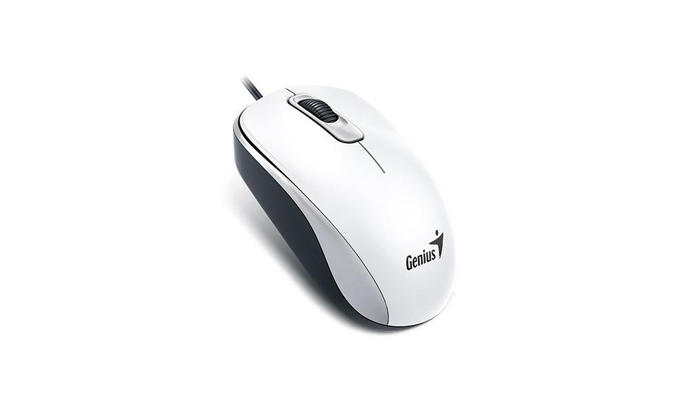 Genius 31010116102 мышь проводная DX-110 USB цвет белый