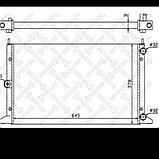 Радиатор системы охлаждения Volkswagen Sharan 1.8-1.9-2.0 1995-2002 / Ford Galaxy, фото 2