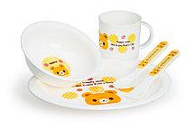 Набор: тарелка, миска, кружка, ложка, вилка HAPPY CARE
