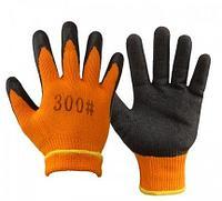 Перчатки х/б прорезинные #300