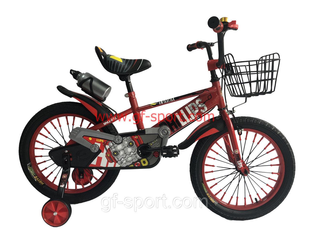 Велосипед Phillips красный оригинал детский с холостым ходом 18 размер
