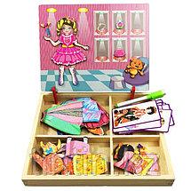 Деревянная доска 2 в 1: Магнитная игра-одевалка и маркерная доска, фото 3