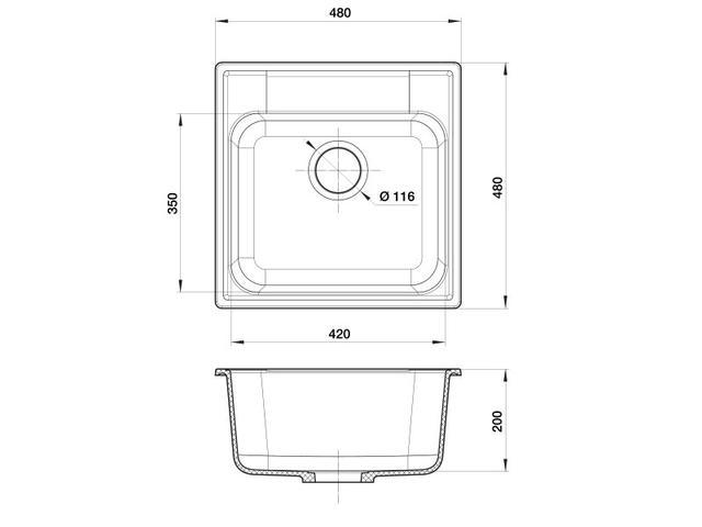 Кухонная мойка GranFest Quarz GF-Z48
