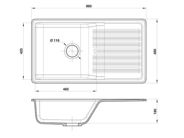 Кухонная мойка GranFest Quarz GF-ZW73