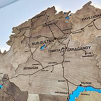 Карта Казахстана из дерева