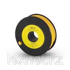 """Маркер кабельный Deluxe МК-0 (2.6-4,2 мм) символ """"0"""" (1000 штук в упаковке)"""
