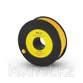 """Маркер кабельный Deluxe МК-0 (2.6-4,2 мм) символ """"0"""" (1000 штук в упаковке), фото 2"""
