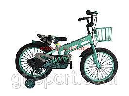 Велосипед Phillips бирюзовый алюминиевый сплав оригинал детский с холостым ходом 18 размер