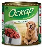 Оскар 350 гр С телятиной консервы для собак, фото 1