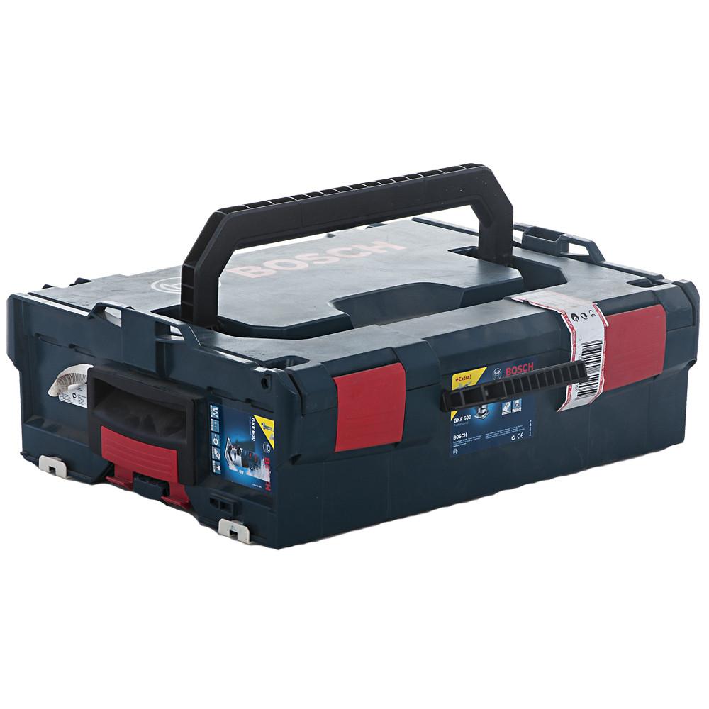 BOSCH 600 Вт, 33000 об/мин, кромочный фрезер GKF 600 L-BOXX (0 601 60A 102), кейс - фото 3