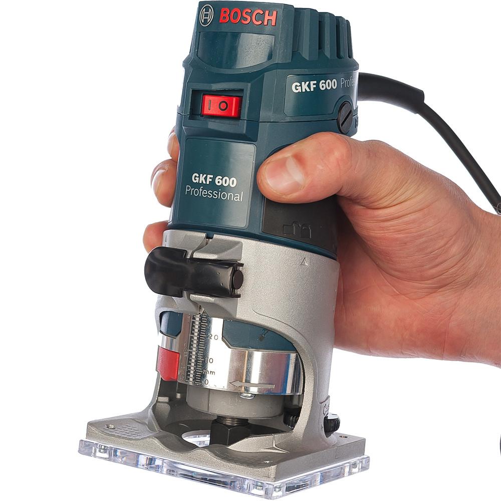 BOSCH 600 Вт, 33000 об/мин, кромочный фрезер GKF 600 L-BOXX (0 601 60A 102), кейс - фото 4