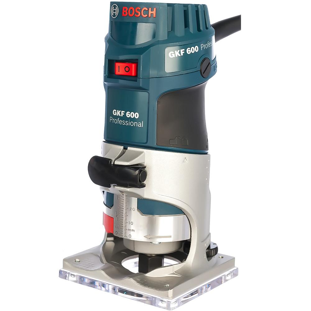 BOSCH 600 Вт, 33000 об/мин, кромочный фрезер GKF 600 L-BOXX (0 601 60A 102), кейс - фото 2