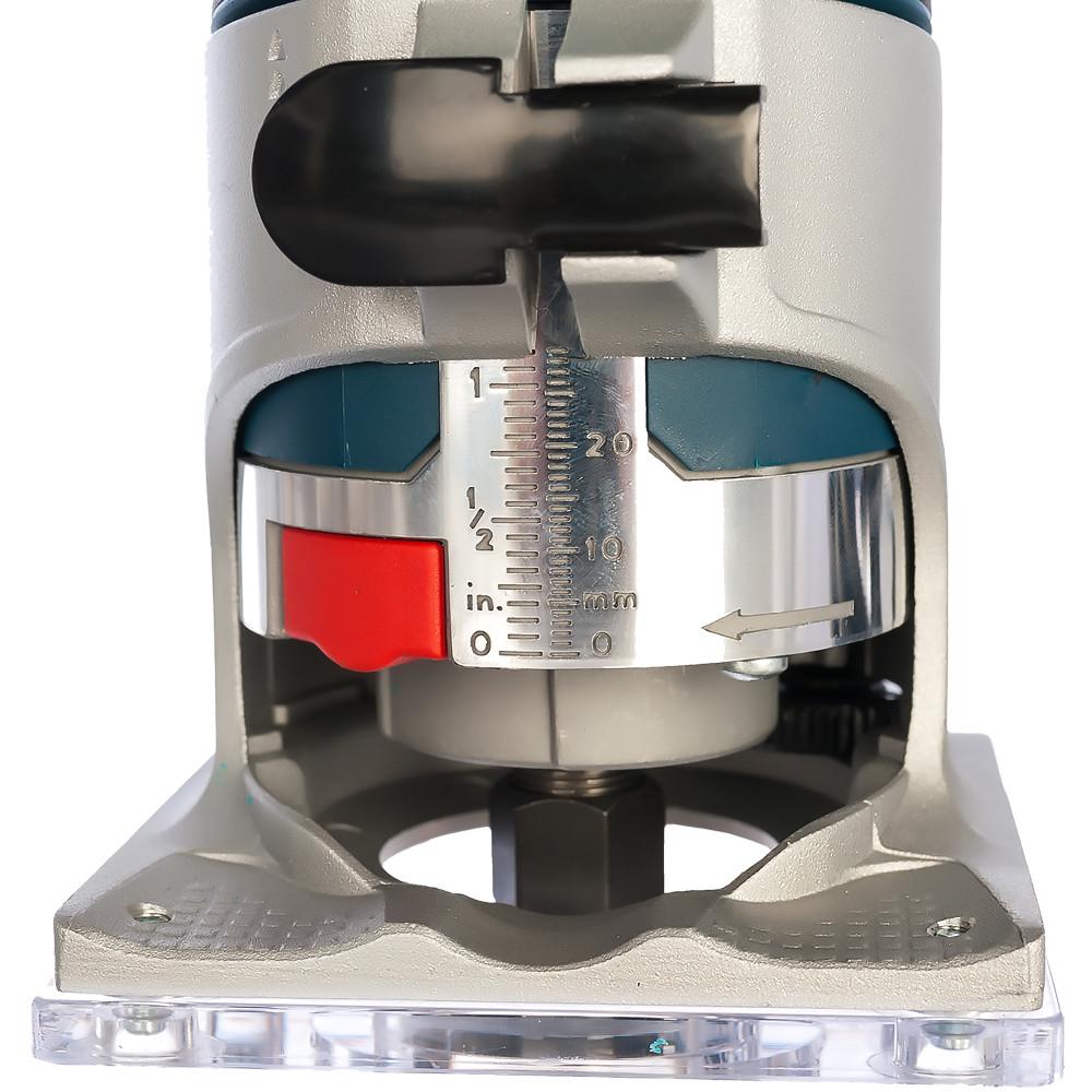 BOSCH 600 Вт, 33000 об/мин, кромочный фрезер GKF 600 L-BOXX (0 601 60A 102), кейс - фото 5