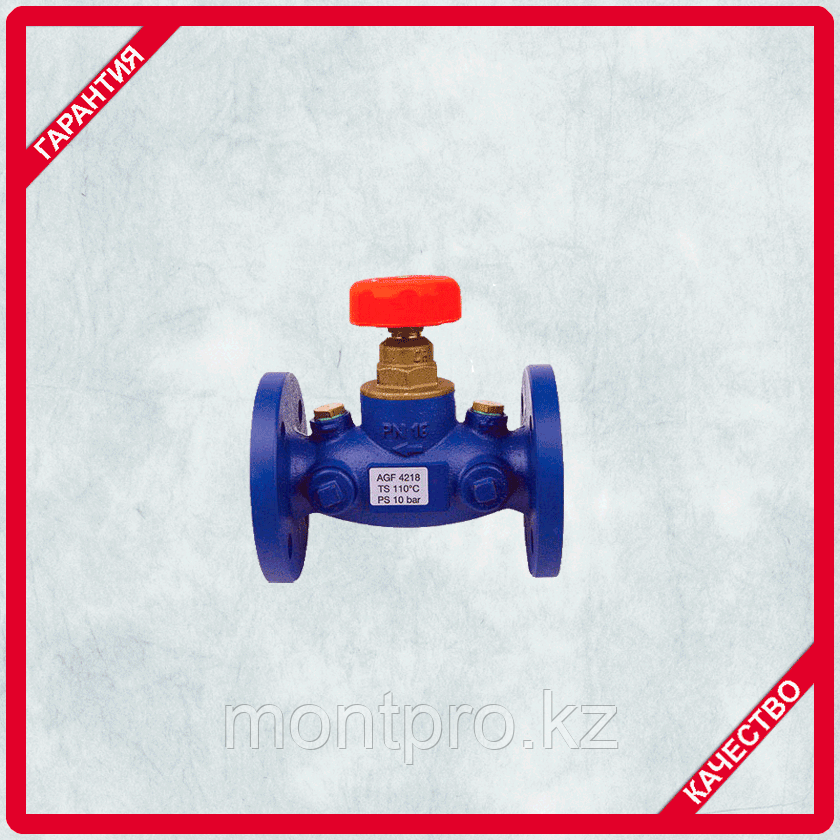 Балансировачный клапан 4218 GМF для измерения перепада давления  Герц (HERZ)