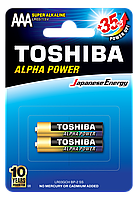 Батарейка алкалиновая Toshiba ALFA POWER LR03GCH BP-2 AAA