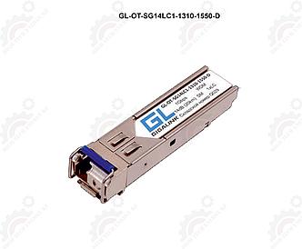 Модуль GIGALINK SFP, WDM, 1.25Гбит/c, одно волокно SM, LC, Tx:1310/Rx:1550 нм, 14 дБ, DDM (до 20 км)