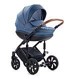 Детская коляска Tutis Mimi Style 2 в 1 Деним + кожа синяя, фото 2