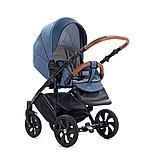 Детская коляска Tutis Mimi Style 2 в 1 Деним + кожа синяя, фото 4