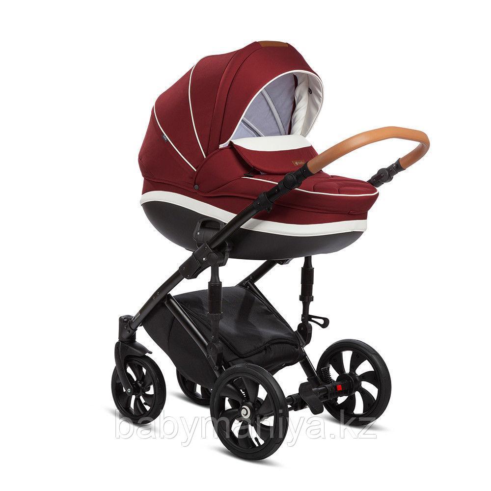 Коляска детская  2 в 1 TUTIS MIMI PLUS  короб+прогулка, Темно-вишневый/Белый