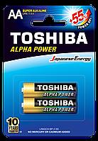 Батарейка алкалиновая Toshiba ALFA POWER LR6GCH BP-2 AA