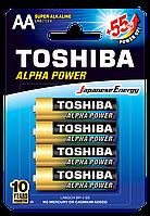 Батарейка алкалиновая Toshiba ALFA POWER LR6GCH BP-4 AA