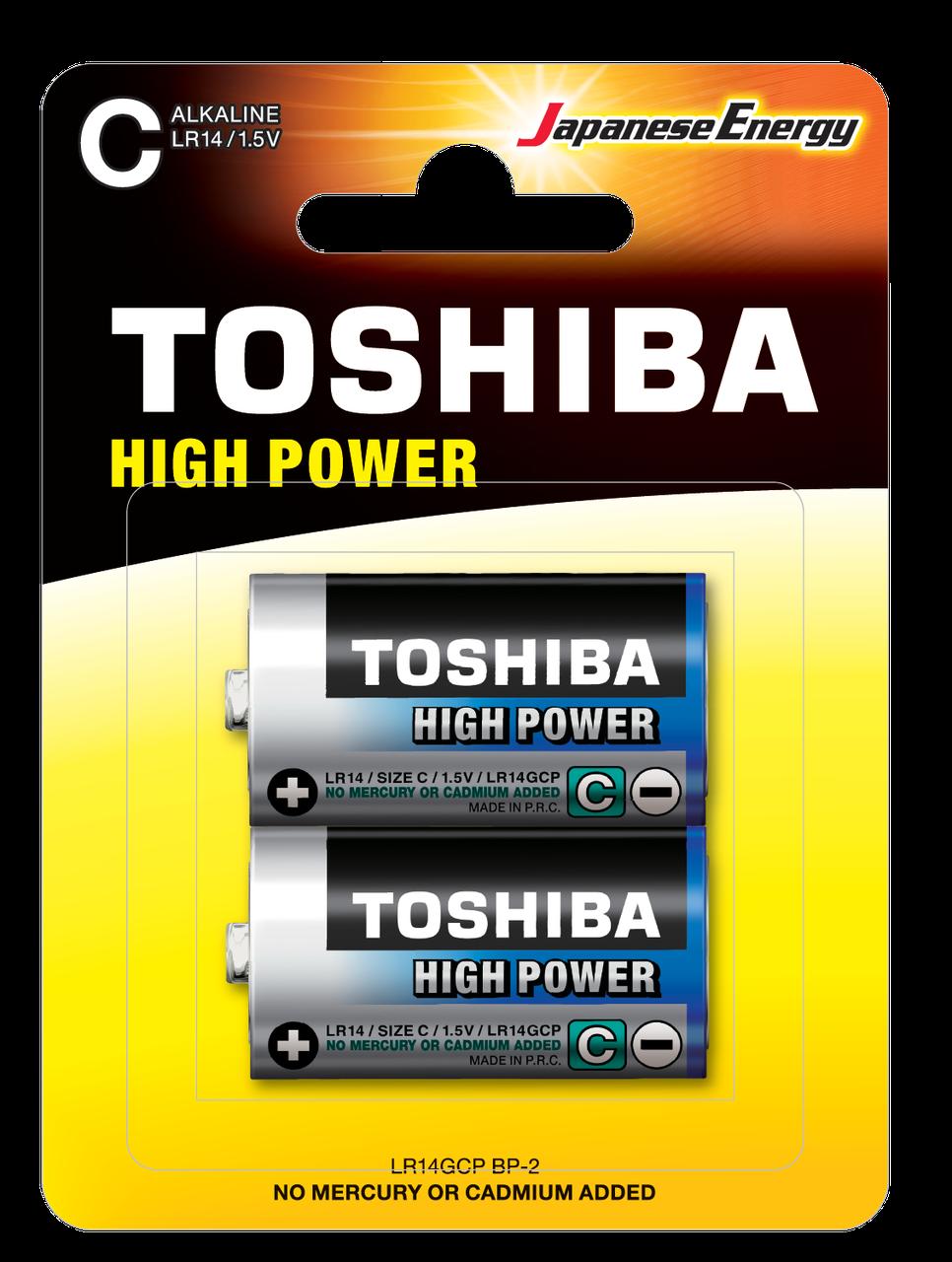 Батарейка алкалиновая Toshiba HIGH POWER LR14GCP BP-2