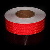 Светоотражающая лента самоклеющаяся 30 м красная и жёлтая