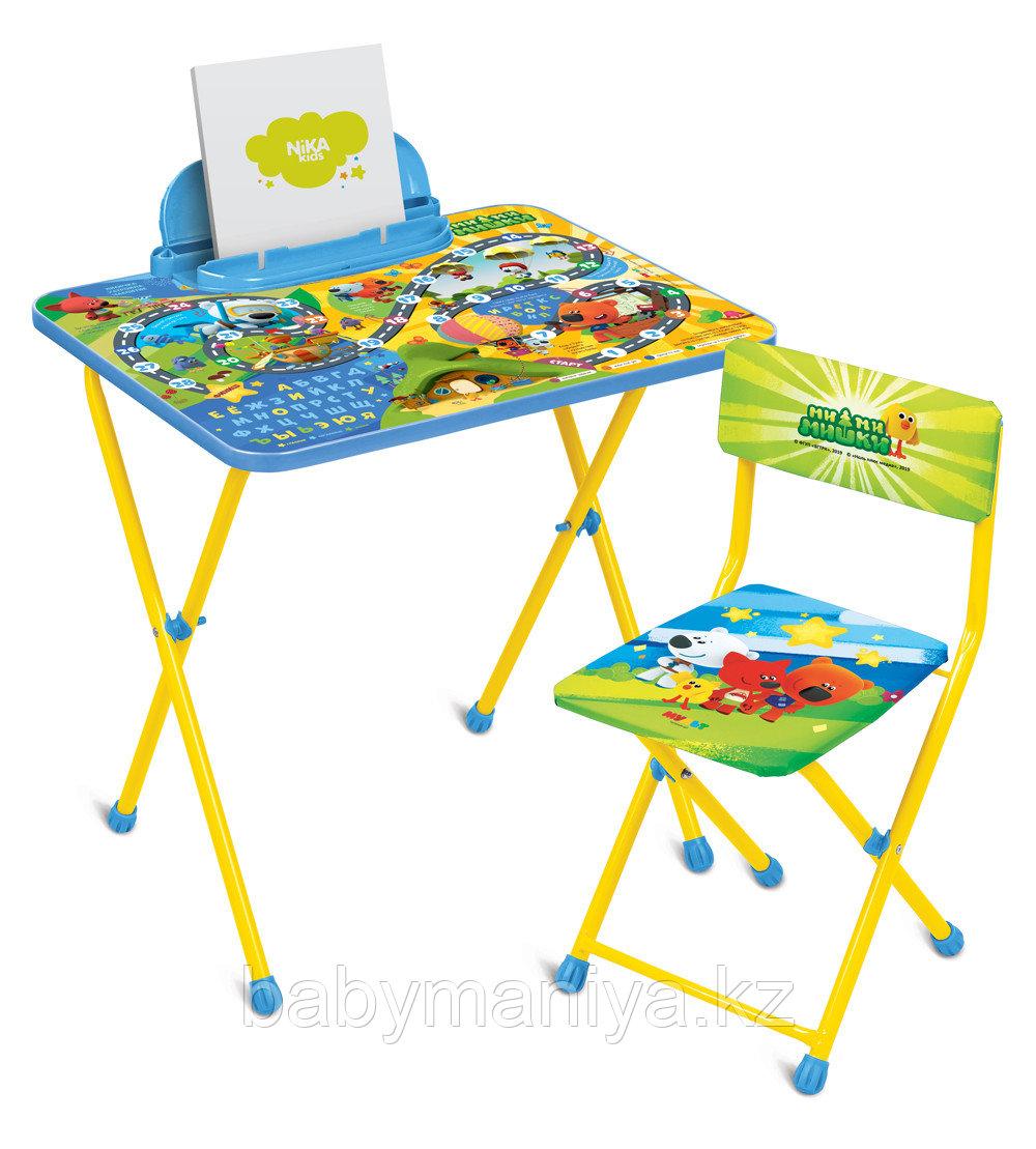 Набор мебели складной Ника МиМиМишки c игрой от 3 до 7 лет, стол+стул