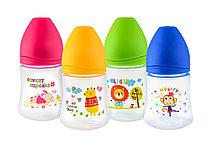 Бутылочка для кормления из полипропилена Sweet baby c силиконовой соской HAPPY CARE, 150мл