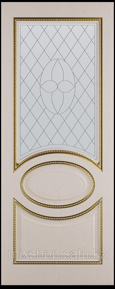 """Межкомнатная дверь """"Неаполь""""белый эмаль со стеклом"""