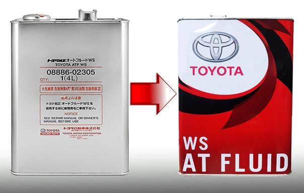 Трансмиссионное масло Toyota ATF WS 4 литра