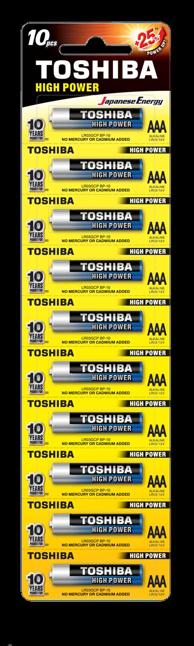 Алкалиновая батарейка  Toshiba HIGH POWER LR03GCP BP-1х10 AAA