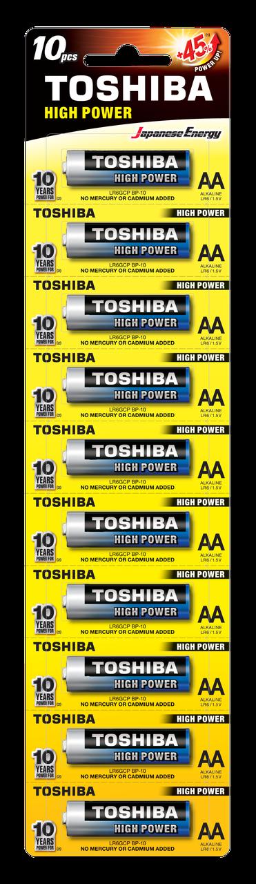 Батарейки Toshiba HIGH POWER LR06GCP BP-1x10 АА