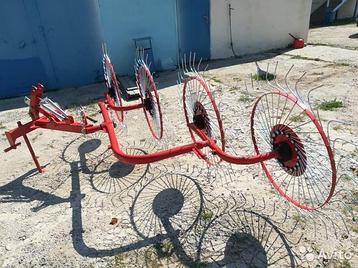 Грабли-ворошилки колесно-пальцевые навесные ГВН-4 (D-Pol), фото 2