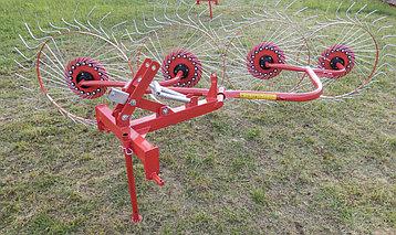 Грабли-ворошилки колесно-пальцевые навесные ГВН 2.4м 3.0м (D-Pol), фото 2