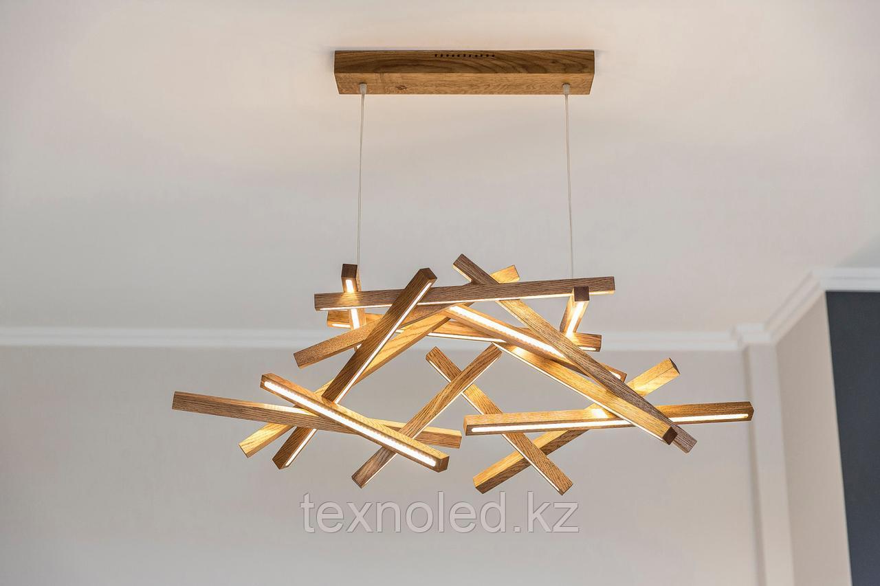 Дизайнерский светильник wood abstraction