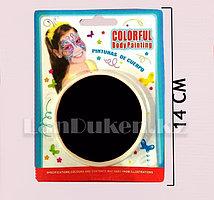 Аквагрим грим краски для яркого праздника черного цвета (HB-605)