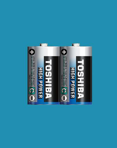 Батарейка алкалиновая Toshiba HIGH POWER LR14GCNN SP-2 С