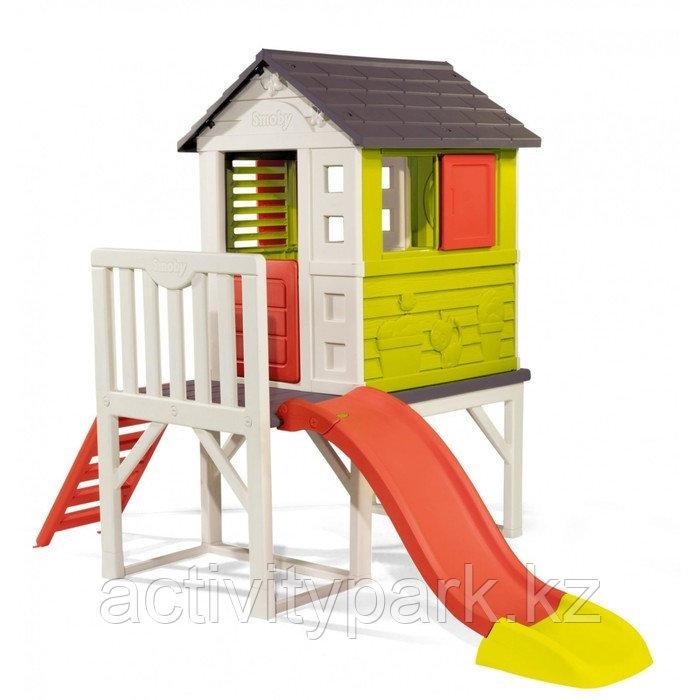 Детский домик Smoby, с горкой